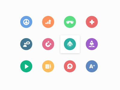 Icon set design icons design e-learning iconography icons spot ui vector