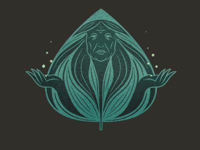 Ancient mother 1 app mother plant medicine medicine plant texture procreate character illustration