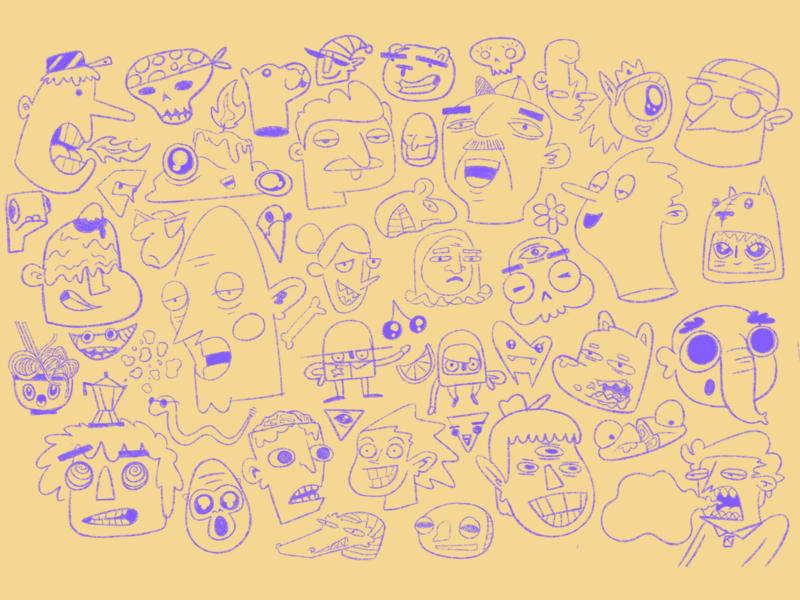 Oodles of doodles create faces face procreate texture character