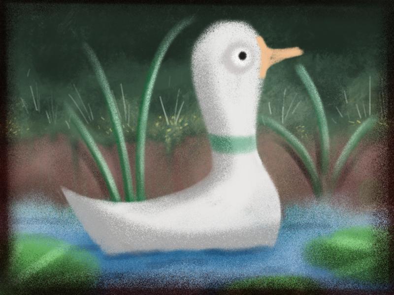 Quack quack illustration moody bird brush duck