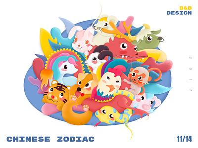 Chinese zodiac pig chicken monkey sheep horse snake dragon rabbit bull rat