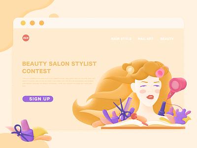 Beauty salon competition polish scissors nail dryer design stylist hair monroe marilyn