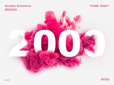 2000 followers synthesis image smoke pink thanks followers team 2000
