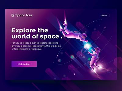 Space tour illustration technology future travel astronaut space