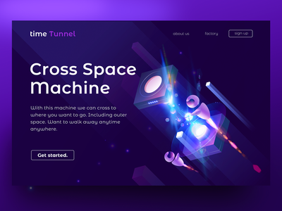 time Tunnel illustration technology travel machine crossing tunnel time
