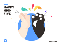 Happy clapping hands