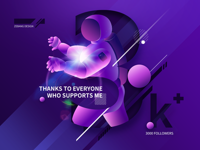 3000Followers illustration goals to stick efforts celebrate followers 3000