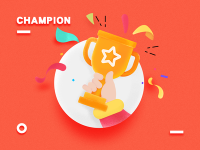 champion illustration cheering trophy victory champion