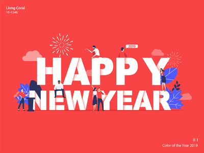 Pantone Color of the Year 2019 | Living Coral people happynewyear coy2019