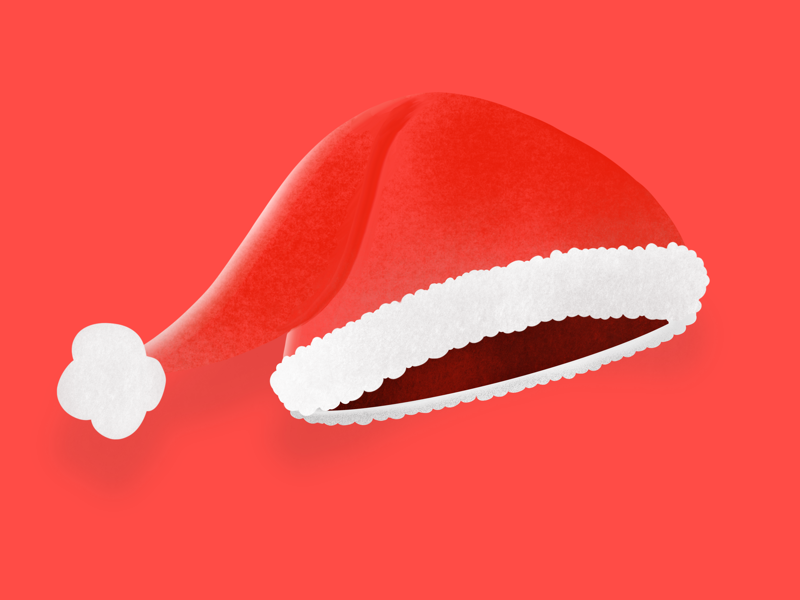 Where is Santa? 🎅🏼 procreate digital art object hat happy white red holidays santa claus santa christmas art illustrations illustration