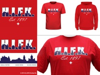 T-Shirt artwork for Helsingin IFK Hockey club.