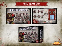 Blood Bowl - Box layout design for Orc Team.