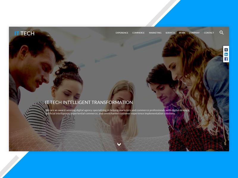 It Tech website builder web design template website