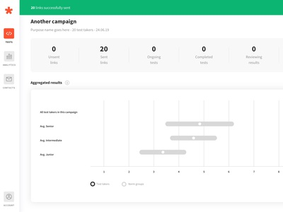 Greps case study - 03 - Create test campaign flow dashboard tech interface webdesign product design typography startup web minimalism ux ui