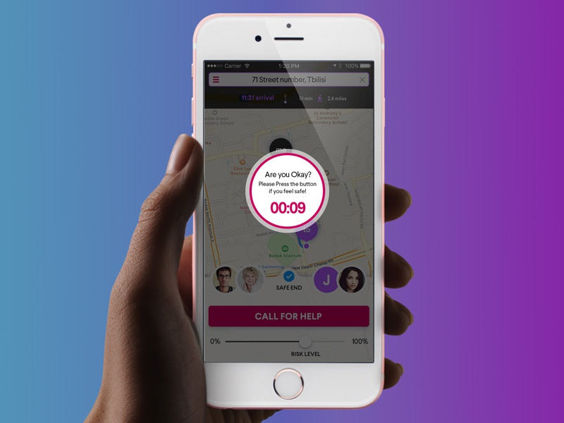 Safety iOS App uxui design application mobile ios app