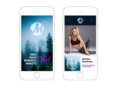 Mindful Minute App Design