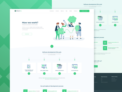 Smart Inc. (How we work page) illustration landing page home page design product page one page interface uxui ux ui web design