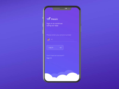 Mesin chat app (part 1) animation app login ios mobile app product page interaction design ux ui interface uxui