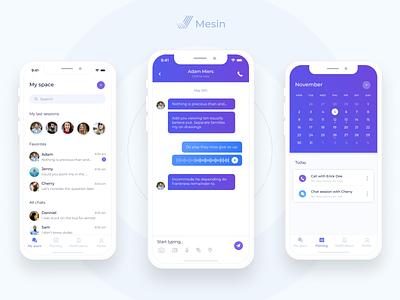 Mesin chat app (part 2) message app chat calendar mobile app ios app design ux ui interface uxui