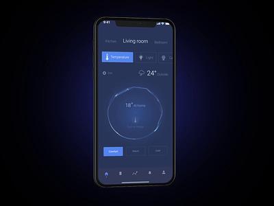 Smart house iphonex web design app motion design animation smart house ios mobile app product page interaction design ux ui interface