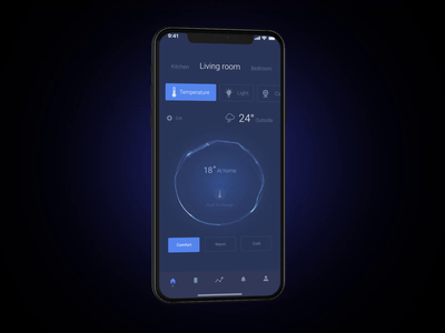 Smart house iphonex web design app motion design animation smart house ios mobile app product page interaction design ux ui interface