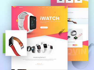 iWatch Landing Page Design (concept) website. user interface user experience product landing page magazine photo ux ui landing page web design web
