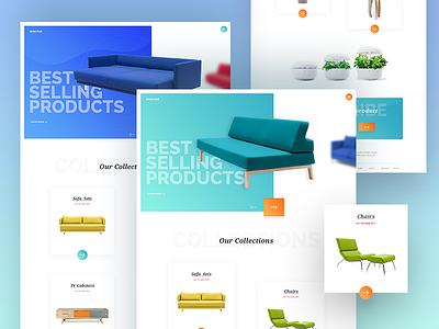 Minifur Furniture e-Commerce Page  user interface user experience furniture e-commerce furniture ux ui best shot landing page design web design web e-commerce e-commerce website