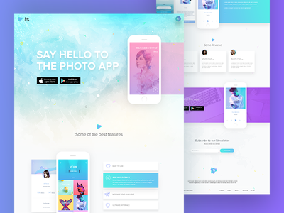Mobile App Landing Page Designs Themes Templates And Downloadable Graphic Elements On Dribbble