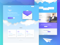 Email Marketing Landing Page (concept)
