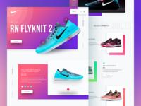 Footwear Landing page Design (Concept)