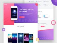 App Landing Page Design V6