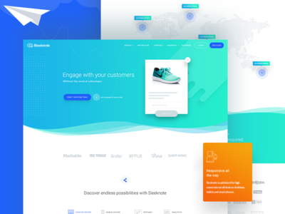 Leads Growing solution web Landing Page