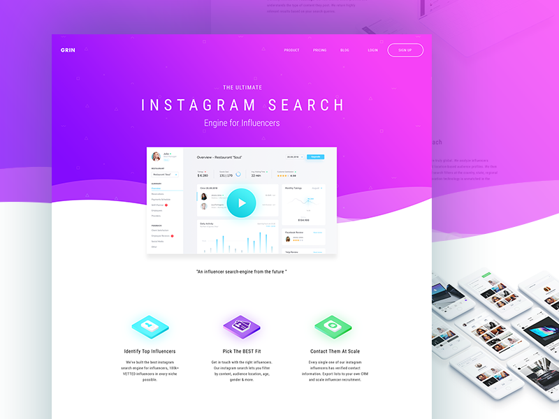 Instagram Search Engine For Influencer Landing Page By
