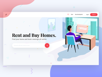 Realty Landing Page concept design (WIP)
