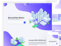 Property/ Home rent or buy Landing page design