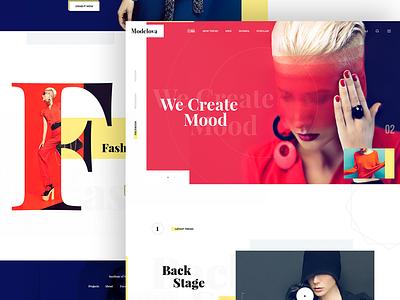 Fashion web design Exploration shop online fashion e-commerce fashion web ui kit colorful bright design exploration fashion