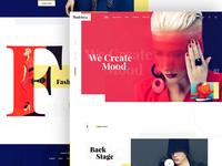 Fashion web design Exploration