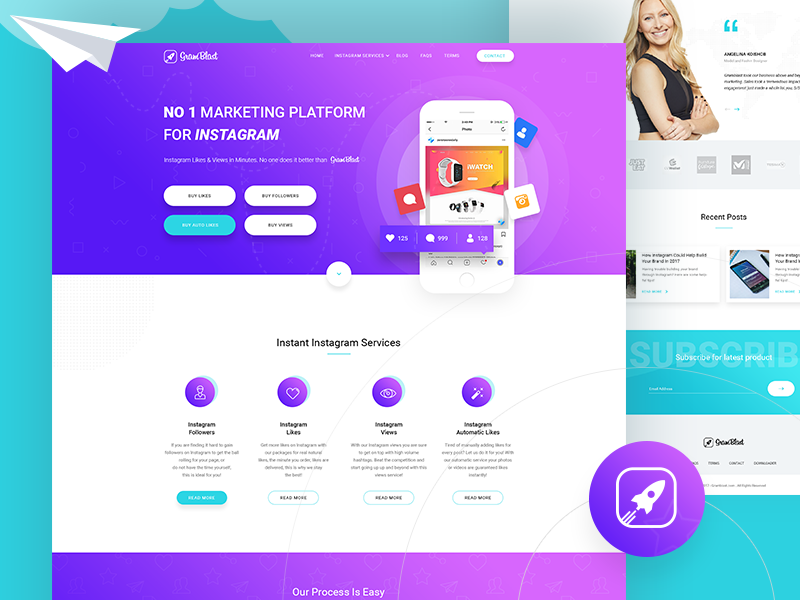 Gramblast com redesign by Rono on Dribbble