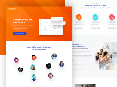 Customer Service Platform Landing Page