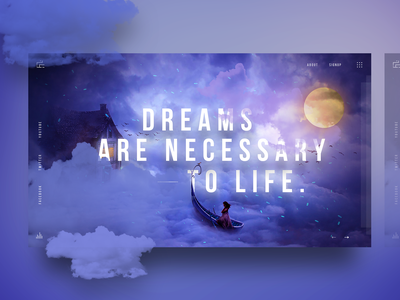 Banner concept Design 1 cloud design love dream design web banner gradient colorful trend 2018 new trend experiment design image manipulation manipulation banner