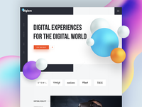 Augmented Reality Landing Page landing page design landing page design 2019 web landing page mr landing page clean mixed reality vr ar virtual reality virtual augmented reality augmentedreality augmented