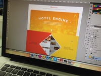 Landing page for HotelEngine