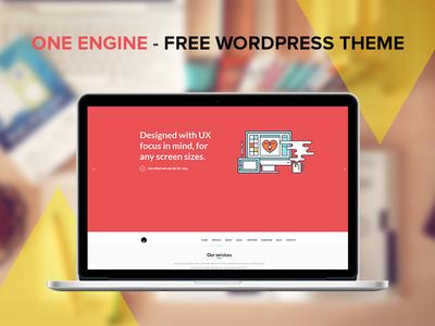 OneEngine - Free WordPress Theme free theme wordpress flat web