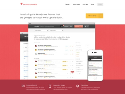 Here comes the bird! engine themes homepage wordpress themes