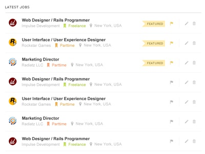 JobEngine - Job listings ui ui design user interface ux listings list job layout