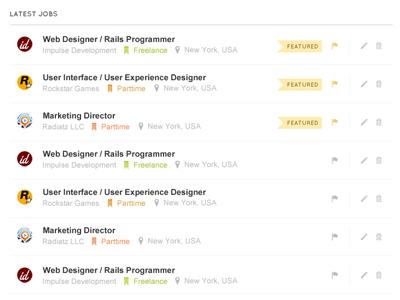 JobEngine - Job listings ui ui design user interface ux listings list job layout