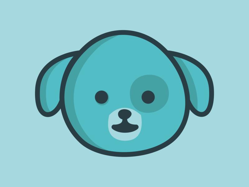 Bobby characer animal logo vector design illustration