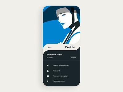 Profile concept illustration options profile app concept ui