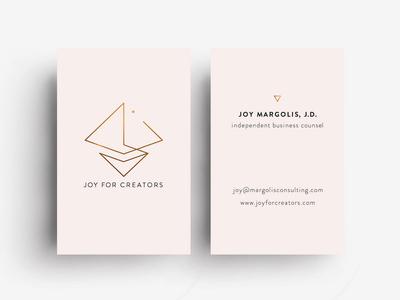 Business Card Design for Joy For Creators