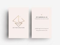 Business Card Design for Joy For Creators